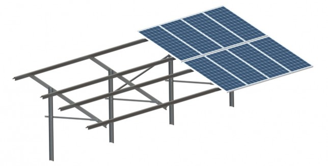 Seasonal -tilt1 -solar mounting structure
